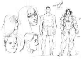 Feel Me character sketches by Jebriodo