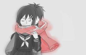 Ayano and Shintaro (Transparent Answer) by rinzen09
