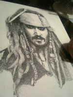 Jack Sparrow - Stippling by Joberu
