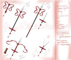 RWBY weapon: Regalis Crysalia Trinity by BlissClouds