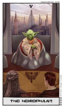 Star Wars Tarot: The Hierophant by theory-of-everything