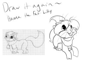 Draw it again - Hanna the fat kitty by Huispe