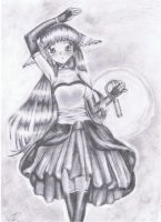 sketched anime girl by LydiaBG