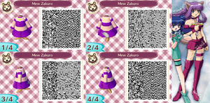 OLD Animal Crossing QR Code Mew Zakuro by SuperAngel502