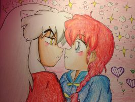 Ranma chan and inuyasha love in the air by KatBanks300