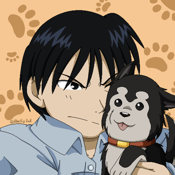 .:Roy and Black Hayate:. by Blacky-Doll
