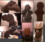Skeksis - Golden Idol - Bust - Dragon by Jagged88