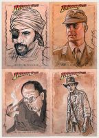 Indy sketchcards Raiders by jasonpal