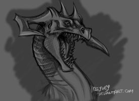 Dragon of electricity by Ikleyvey