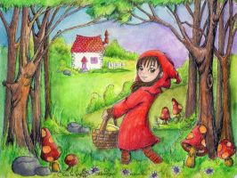 Little red riding hood (Caperucita) by aiduqui