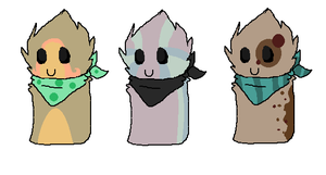 Scarfblob adopts 2 by iluvwolfies