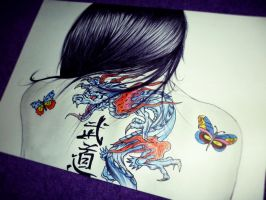 The Girl With The Chinese Dragon Tattoo 2 by carldraw