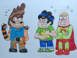 Super Clarence, Bad Steven, and Mad Steven by AngeloCN