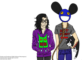 Collab: Skrillex n Mau5 by InvaderXJaden