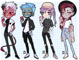 modern monsters adopts [CLOSED] by ayaben