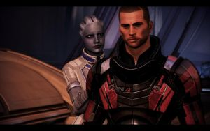 ME3 Thessia - Alan Shepard and Liara 2 by chicksaw2002