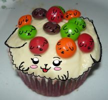 Mother Pooch Cupcake And Her Sleepy Skittle Pups by KambalPinoy