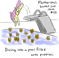 Fluttershy's Bucket List Item #23 by grilledcat