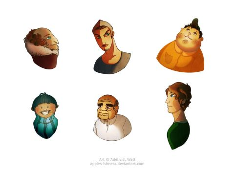 Fantastical Faces (Gents) by apples-ishness