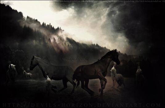 with wolves.. by devils-horizon