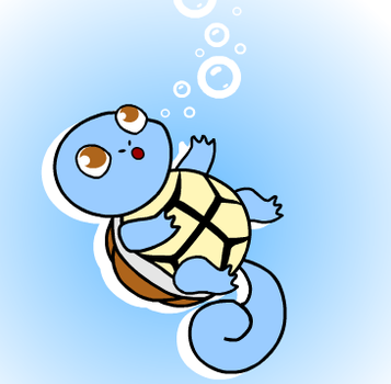 ''Squirtle used Bubble!'' by Pastel-Screamss