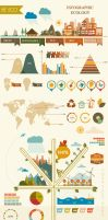 Vector infographic ecology by Desenart