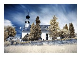 Church at the river by Torsten-Hufsky