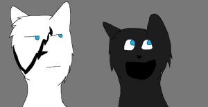 Ghosteh and meh :3 by Willow0000