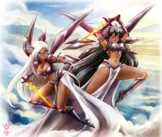 .:Valkyries:. commission by Mako-Fufu