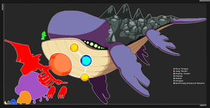 Starbound - Space Whale Sprite by Dragonith