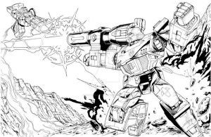 TF Megatron battle by Dan-the-artguy
