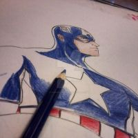 making of Captain America by victoriapieroni