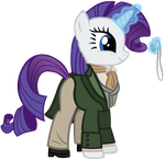 Rarity as the 8th Doctor by SilverMapWolf