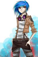 Commission: Vinyl Scratch in Shingeki no Kyojin by Tao-mell