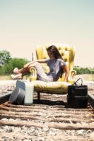 Chair on the Rails by wordpainter81