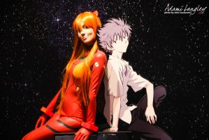 Asuka and Kaworu by adami-langley