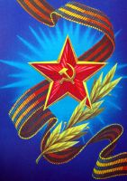 Victory Day postcard by ACZCipher