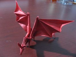 Red Simple Dragon by Zen-PoD
