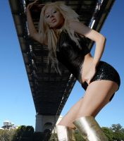 Christina Aguilera under the bridge by Accasbel