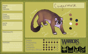 Cougarmask Refferance by Lionstrikewhiskers