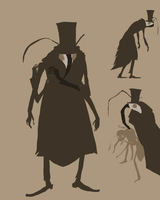 assassin bug man by Spoonfayse