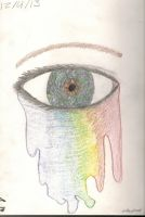 Stained Glass Eyes And Colorful Tears by K2BunnyStyleFan