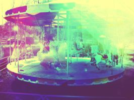 Psychedelic Carrousel by Postreman