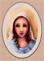 Holy Face of Mary by FireFiriel