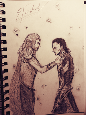 Thor and Loki by LacriChan