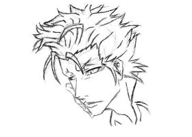 Bleach: Grimmjow Sketch by Mistur-Musik