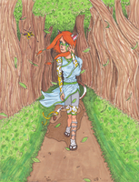 Peaceful Walk in the Forest by Girl-With-Wings13