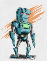 Robot Warm Up Sketch by gravyboy