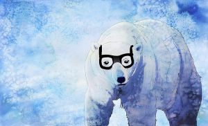 Hipster Polar Bear by Shembre