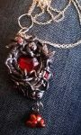 Glass heart pendant by soophieO